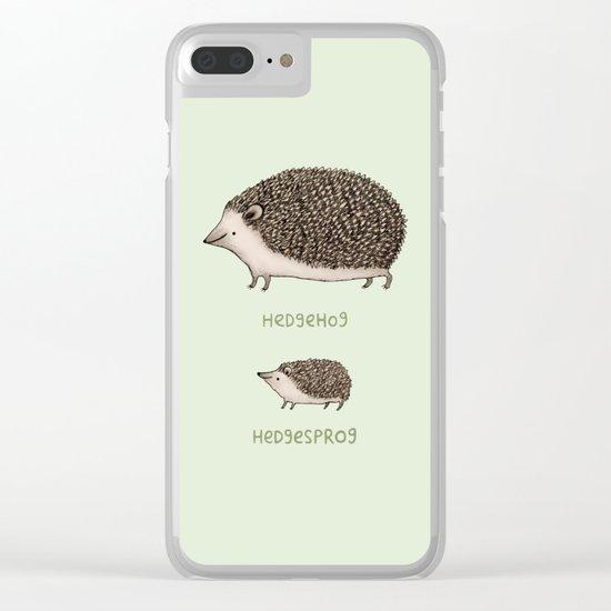 Hedgehog Hedgesprog Clear iPhone Case