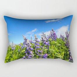 Summer Lupine in Iceland Rectangular Pillow