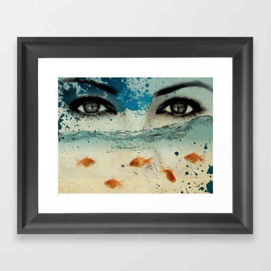 tear in the ocean Framed Art Print