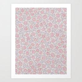 Pink Pepper Corns Art Print