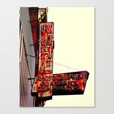 Ruhl's Photography Sign Canvas Print