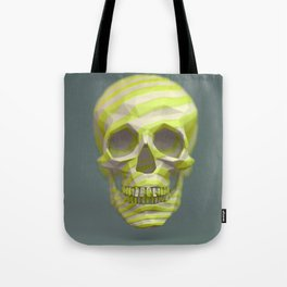 Yellow pop candy skull 3D render. Tote Bag