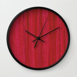 Strawberry Colored Vertical Stripes Wall Clock