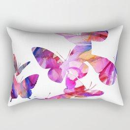 Pink Butterflies Rectangular Pillow