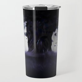Misty oak tree Travel Mug