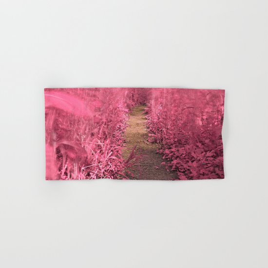Windy Goose Creek Trail - Tickle Me Pink Hand & Bath Towel