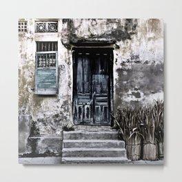 Vietnamese Facade Metal Print