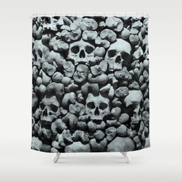 Wall of Remains B'n'W Shower Curtain