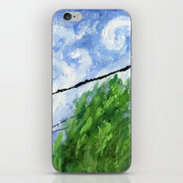 Tress, Wind and Cables iPhone Skin