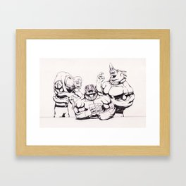 The Toughest of Inmates Laugh Framed Art Print