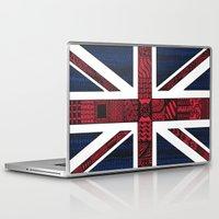 union jack Laptop & iPad Skins featuring Union Jack by Sophie H.