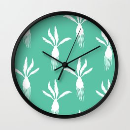Rooting For You II Mint Green Wall Clock