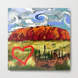 I love Uluru Metal Print