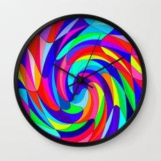 Crazy colours Wall Clock