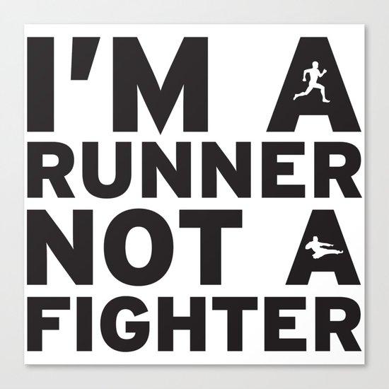 i'm a runner Canvas Print