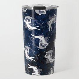 Aquarius Water Bearing Cosmic Woman Travel Mug