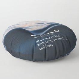 Meraki Word Nerd Definition - Purple Watercolor Floor Pillow