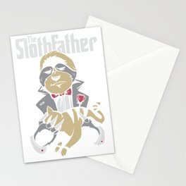 The sloth father Stationery Cards
