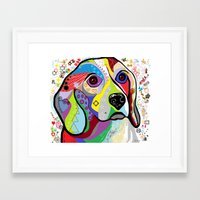 beagle Framed Art Prints featuring BEAGLE by EloiseArt