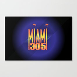 Miami   305 Canvas Print