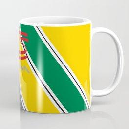 Ayrton Senna Stripes Logo Coffee Mug