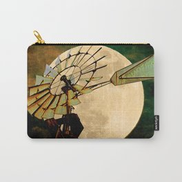 Rustic Night Windmill Moon Country Art Farmhouse Art A544 Carry-All Pouch