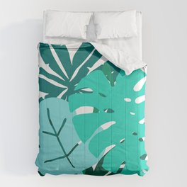 Contemporary Palm Leaves Graphic Design Comforters