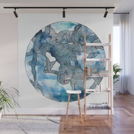Blue Labyrinth Wall Mural