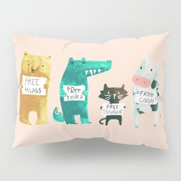 Animal idioms - its a free world Pillow Sham