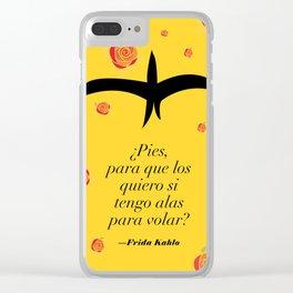 Frida Kahlo: ¿Pies, para que los quiero si tengo alas para volar? Clear iPhone Case