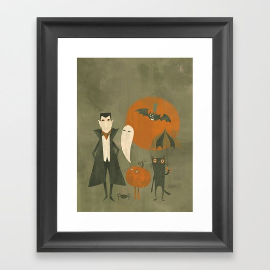 Soon Halloween Framed Art Print