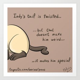 PAWS A Twisted Tail Art Print