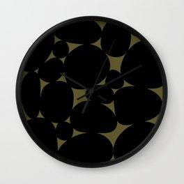 Stone Abstract - Earth Green Wall Clock