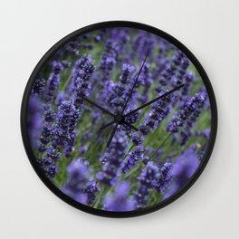 Lavender field Wall Clock