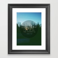 Two Roads (Text Version) Framed Art Print