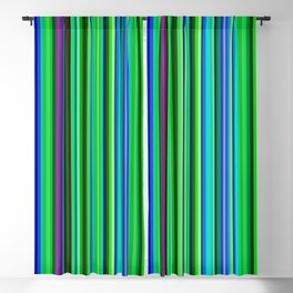 Colorful Barcode Blackout Curtain