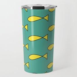 Princess Caroline Fish Dress Pattern Travel Mug