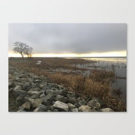 Foreshore January Sunset Canvas Print
