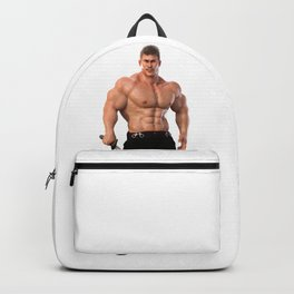 Male Warrior with sword Backpack