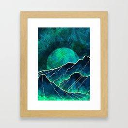 As a new moon rises Framed Art Print