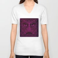 maori V-neck T-shirts featuring Maori style 02 by Alexis Bacci Leveille
