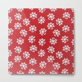 Christmas White Deers Metal Print