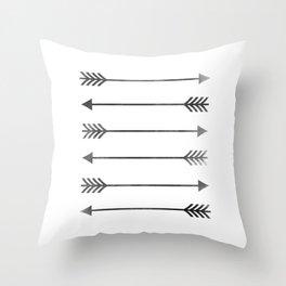Watercolor Arrows Throw Pillow