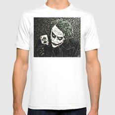 The Joker SMALL White Mens Fitted Tee