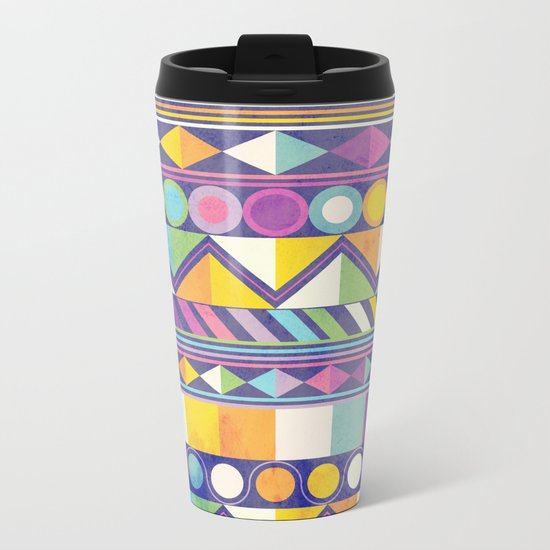 Texture and Colour 1 Metal Travel Mug