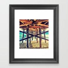 Under the Pier- Square Framed Art Print