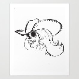 Day of the Dead Cowgirl Art Print