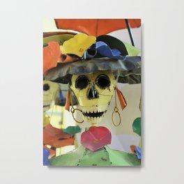 Elegant Sugar Skull Lady Metal Print