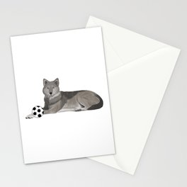 Soccer Wolf Stationery Cards