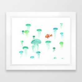 Sea of Jellies Framed Art Print